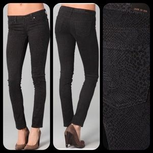 AG Jeans The Legging Super Skinny Snake Print Jean